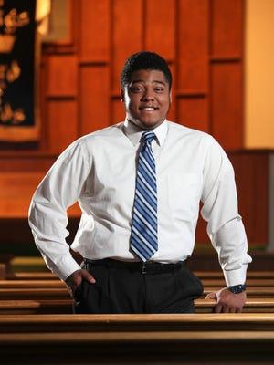 Noah Nehemiah Robinson, 17, is a worship leader at the Bashford Manor Baptist Church.Feb. 28, 2016