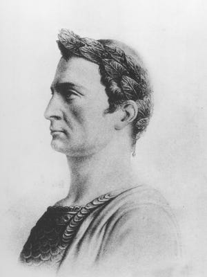 This is an undated sketch of Julius Caesar, Roman general and statesman who was assassinated on March 15, 44 B.C. (AP Photo) ORG XMIT: APHS135