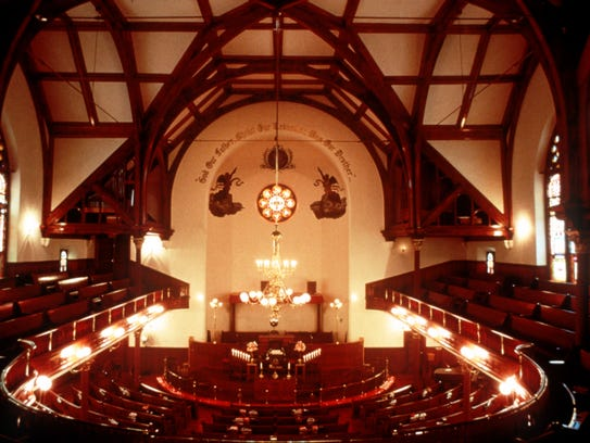 An interior view of the mother bethel ame church in philadelphia in