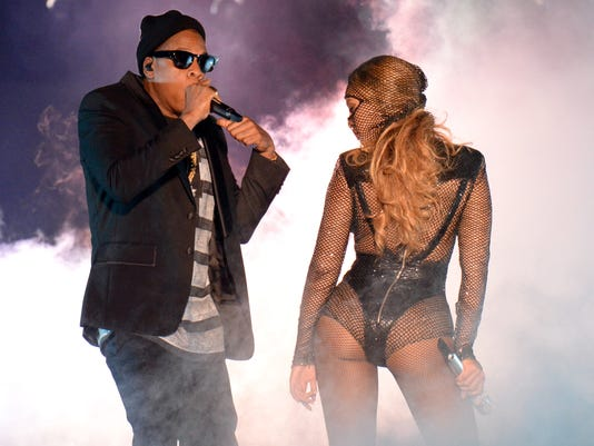 Terrific together: Beyonce and Jay Z go live