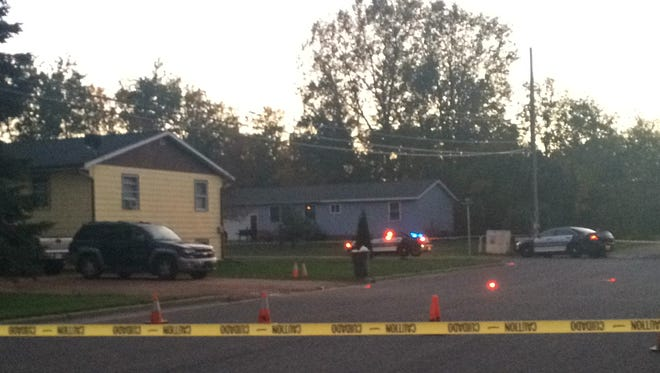 Police investigate a stabbing near the intersection of Boles Street and 18th Avenue in Wisconsin Rapids.