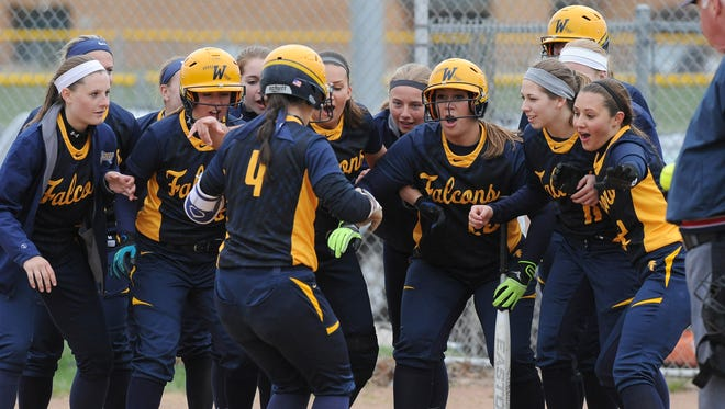 Whitnall's Mackenzie Sutton (4) and the rest of the Falcons had reason to celebrate last week.