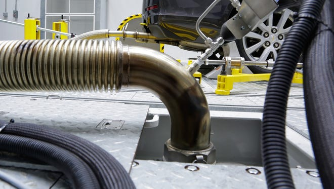 File photo of testing conducted in the National Vehicle and Fuel Emissions Laboratory High Temperature Test Facility at the National Vehicle and Fuel Emissions Lab in Ann Arbor.