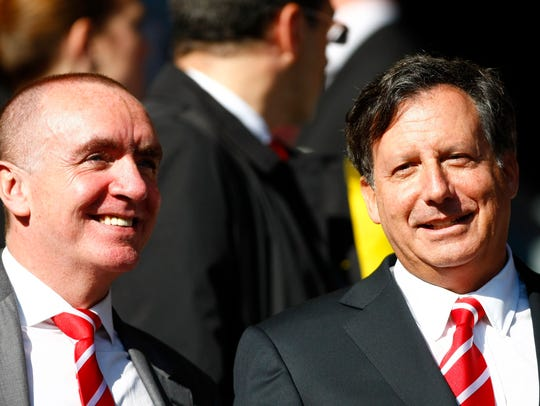 Liverpool co-owner Tom Werner, right, and Managing