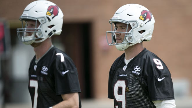 The drafting of Josh Rosen raises questions about the future of Sam Bradford and Mike Glennon in Cardinals uniforms.