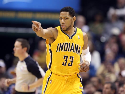 Small forward Danny Granger: From the Indiana Pacers to the Philadelphia 76ers.