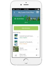 The free My Lawn app from Scotts offers step-by-step guidance on how to care for your lawn.