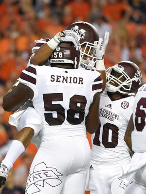Mississippi State offensive lineman Justin Senior has an interesting perspective in this year's presidential election.