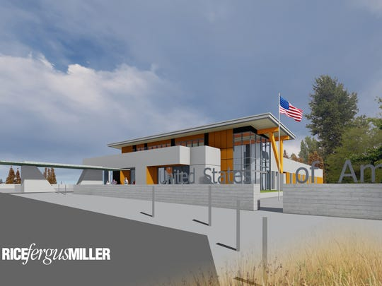A design rendering of the future VA Puget Sound community-based outpatient clinic in Silverdale.