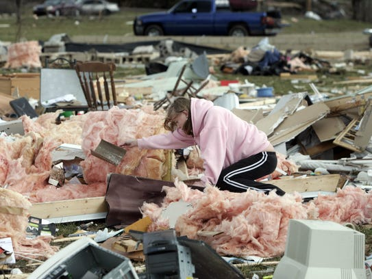After a deadly tornado destroyed many Castalian Springs