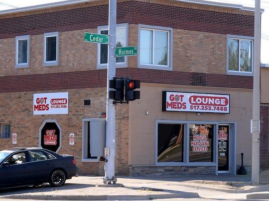 The Got Meds Lounge on South Cedar Street at Holmes