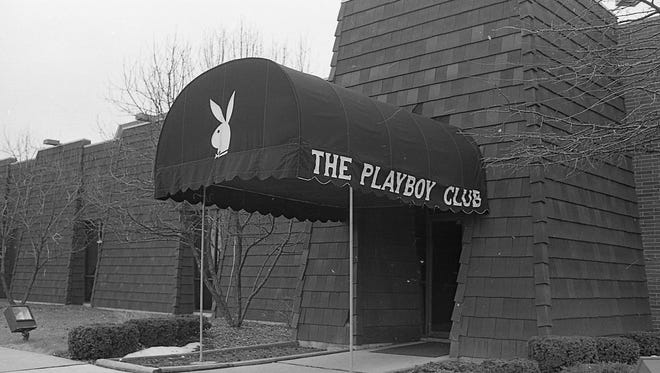 Entrance to the Lansing Playboy Club at the Hilton Inn, March 2, 1988.