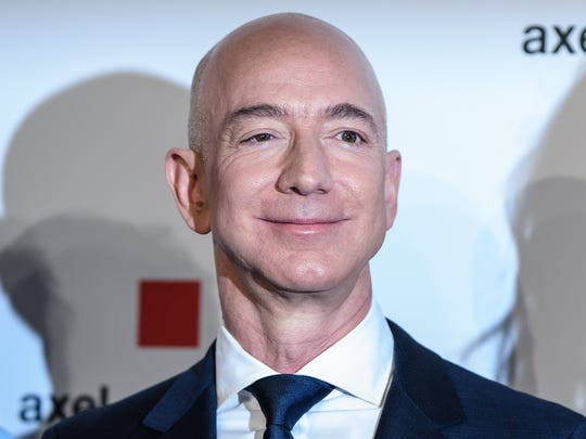 Amazon CEO Jeff Bezos attends the Axel Springer Award 2018, in Berlin, Germany, April 24, 2018.