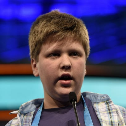 Elijah Brewer, 13, of Lexington, incorrectly spells