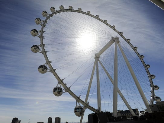 The Las Vegas High Roller at The LINQ began to operate
