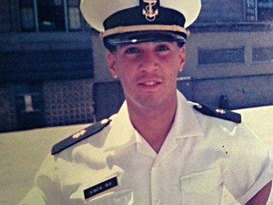Victor-Hugo Vaca Jr. during his time at the U.S. Naval