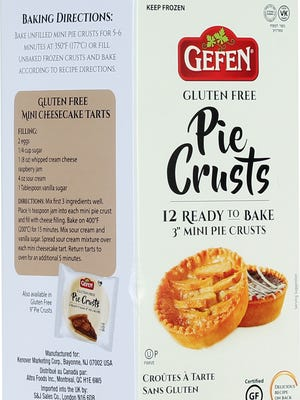Mini pie crusts that are Kosher for Passover.