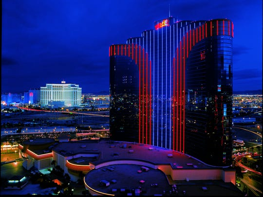 Riders will soar the third of a mile between the two towers, feet dangling 500 feet in the air, for an exhilarating rush of adrenaline. But if you keep your eyes open for that 70-second ride, you'll take in one of most breathtaking views of Las Vegas.