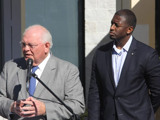 During a Monday press conference, Sen. Bill Montford
