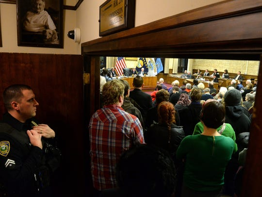 Standing room only for the beginning of Tuesday night's