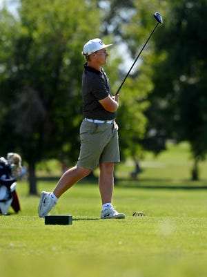 Joey Moore was a star at Billings West and now plays golf at San Diego State. He owns a six-shot lead after two rounds of the Montana Men's State Amateur tournament at Meadow Lark CC.