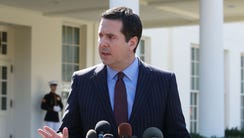 House Intelligence Chairman Devin Nunes speaks to reporters
