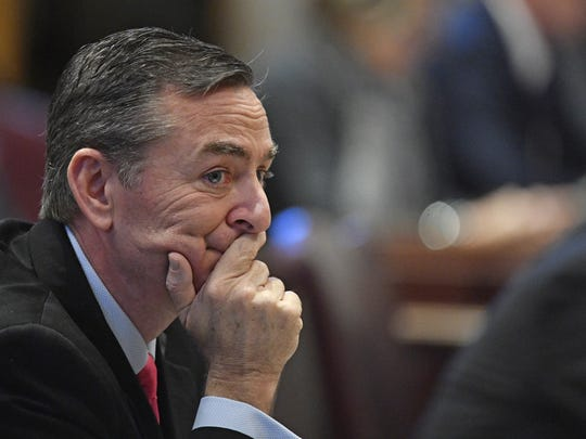 Rep. Glen Casada, R-Franklin, listens during the first