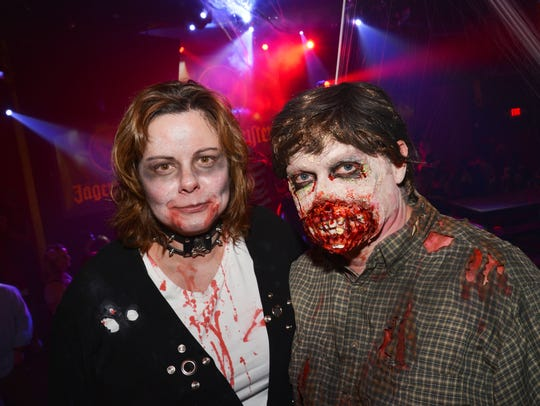 Carole Cokus and John Englert enjoying the 2014 Zombie
