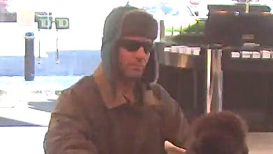 Oaklyn bank robbery suspect.