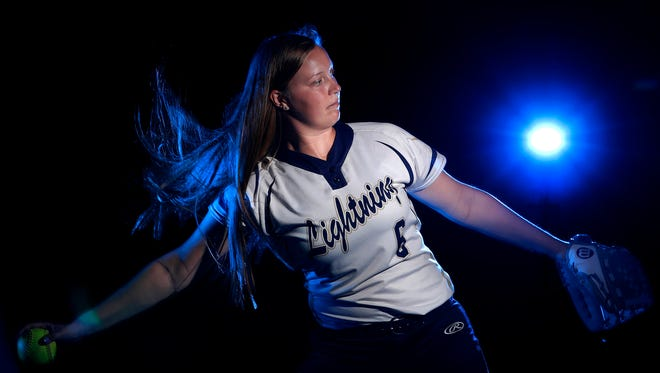 Marissa Mullen, with Appleton North High School, is the softball athlete of the year Wednesday, July 11, 2018, in Appleton, Wis. Danny Damiani/USA TODAY NETWORK-Wisconsin