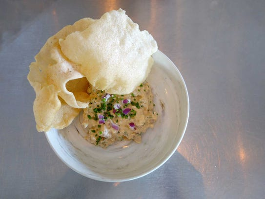 Mesquite smoked fish dip with Korean 1000 island and