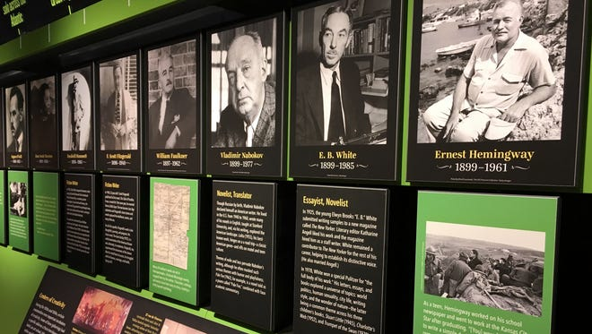 A U.S. history timeline is matched with little-known facts about significant writers of the day.