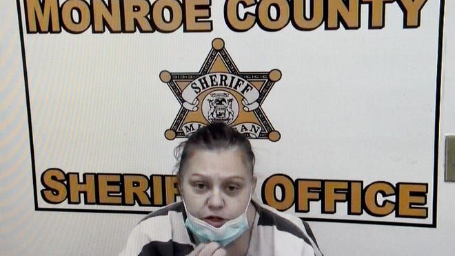 Michele Ann Dropulich of Hudson appears for Monroe County First District Court arraignment Monday afternoon by Zoom teleconferencing. She has been charged with second-degree murder, operating while intoxicated causing death and reckless driving causing death in connection with the June 4 crash that claimed the life of Animal Control Officer Darrian Young.