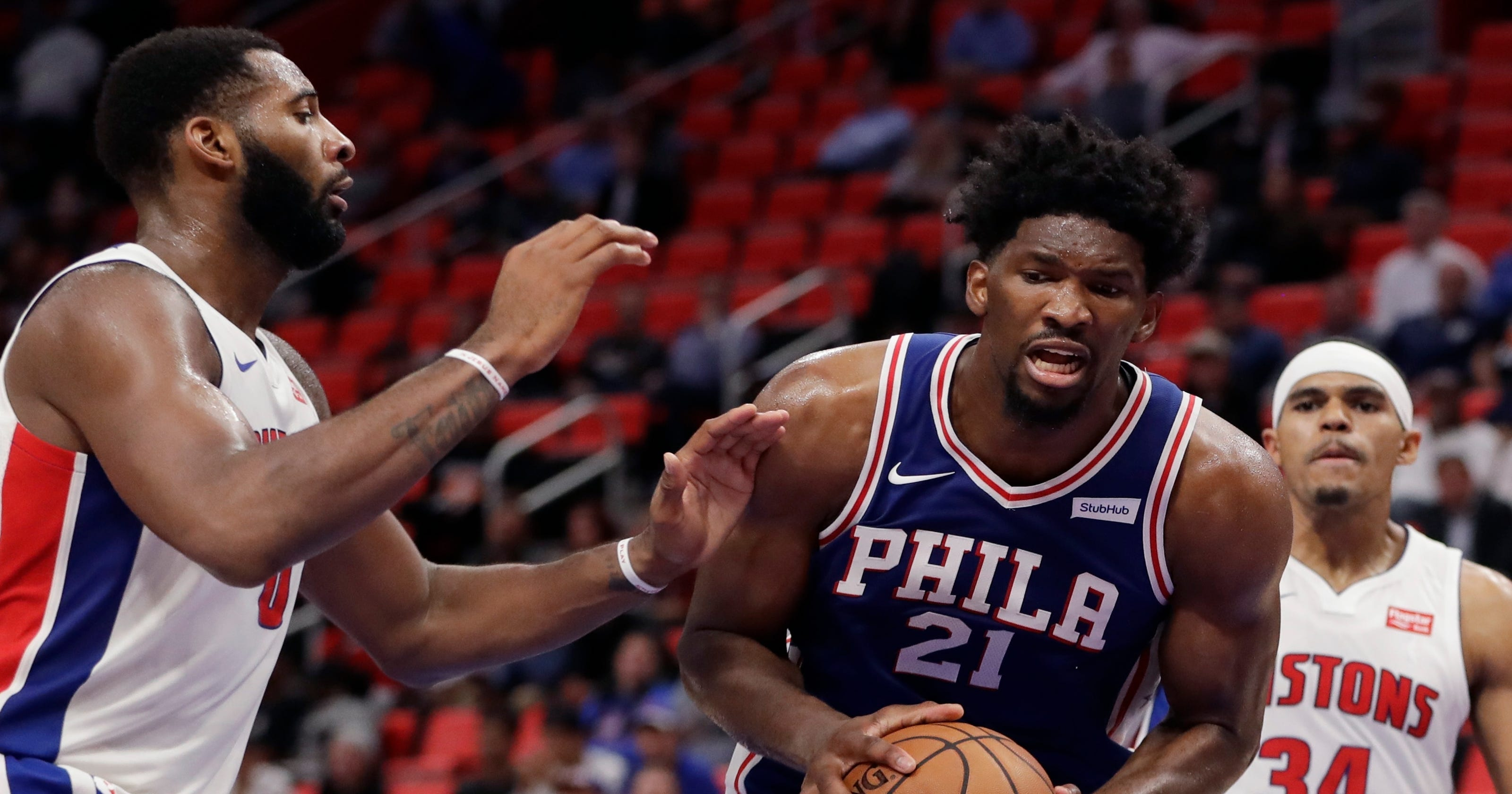 8d60dc9a1d25 Joel Embiid on Andre Drummond   He doesn t play any defense