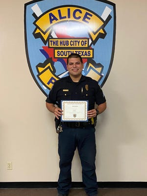 Police Sergeant John Deleon, is one of six Officers promoted this month at the Alice Police Department.