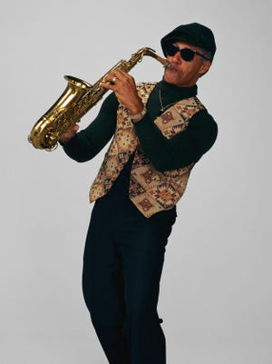 Jazz Musician Playing an Alto Saxophone