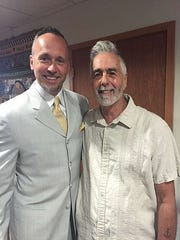 James Quigley and his biological father Frank Balistreri.