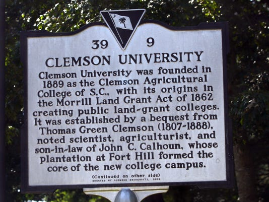 Stock  Pickens County SC Clemson University landmark