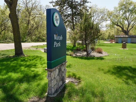 The entrance to Watab Creek Park shown  Tuesday, May