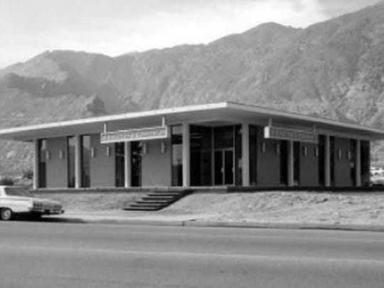 The original structure at 501 S. Palm Canyon was built