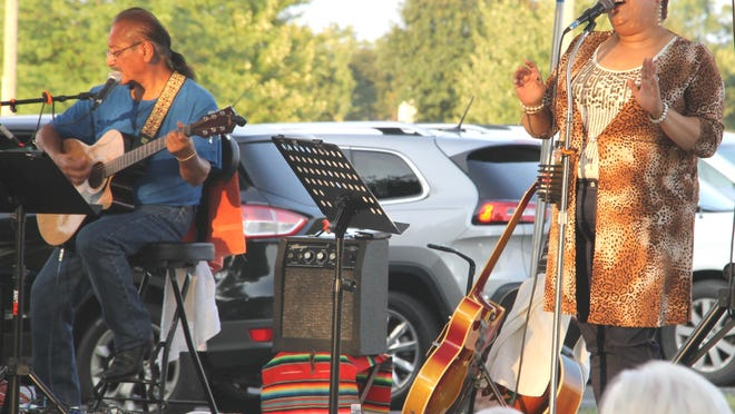 Local musicians, Shanneen Forster and Rene Meave closed out the 2020 Entertainment Under the Stars.