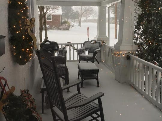 Lisa Meddick submittted a photo of her snow-covered porch in Glassboro