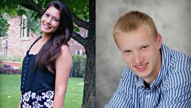 Kimberly Wiley and Josh Lamack of Kewaunee High School.