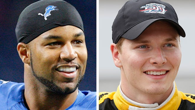 Golden Tate, left, and Josef Newgarden