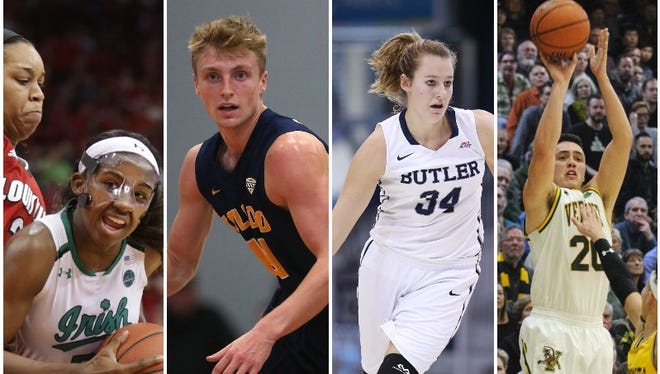 Jackie Young, Jaelan Sanford, Tori Schickel and Ernie Duncan are just a few of the 15 Evansville-area players in Division I basketball.