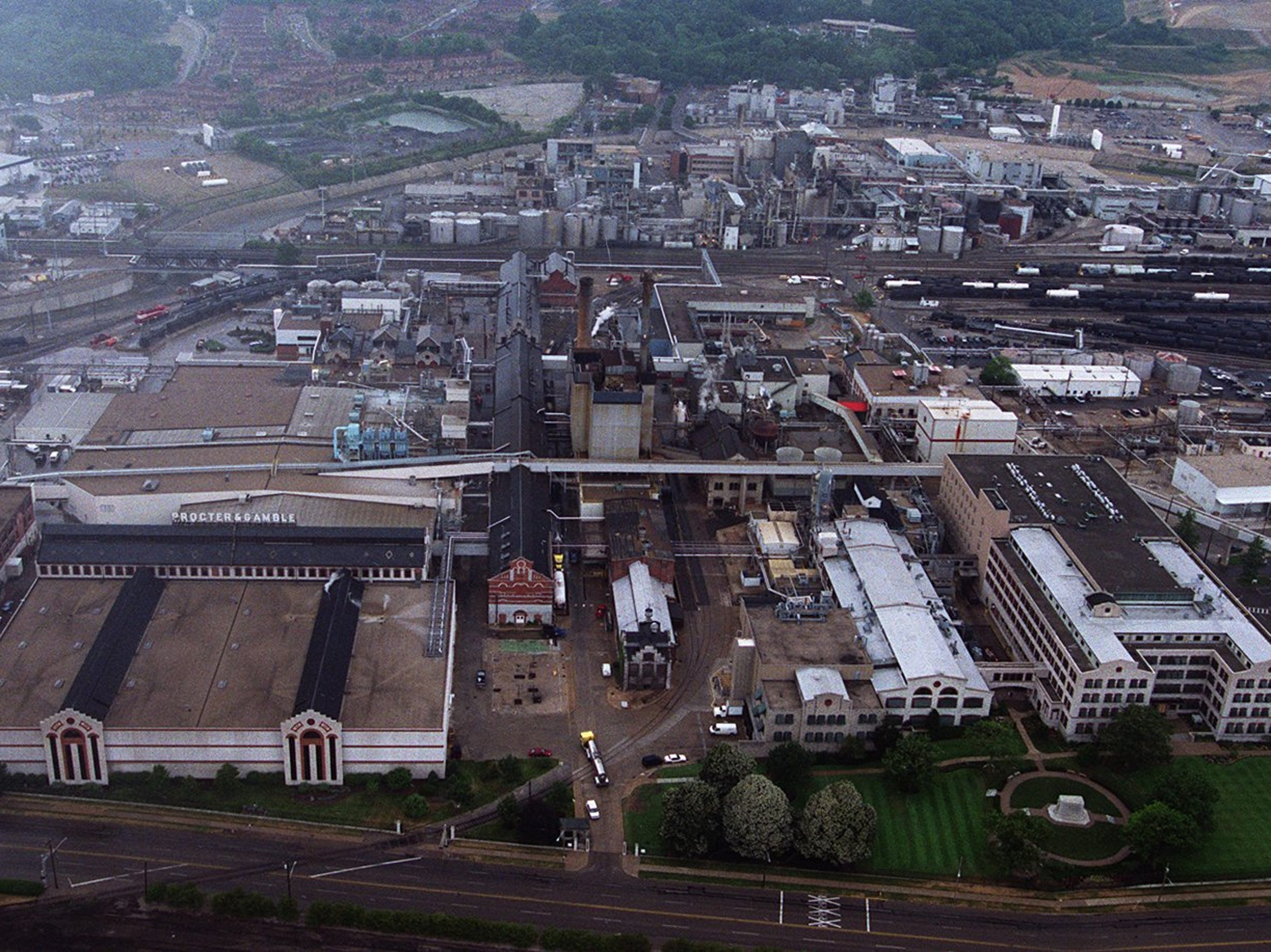 An aerial view of the Procter & Gamble Ivorydale plant.