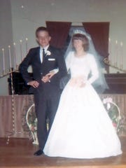 Bonnie and James Lackey were married on Sept. 3, 1966, in Corona.
