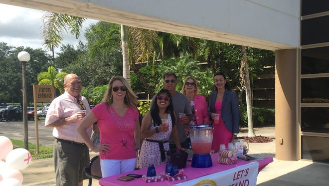 We had a steady stream of visitors to our Pink Lemonade Stand on Friday.