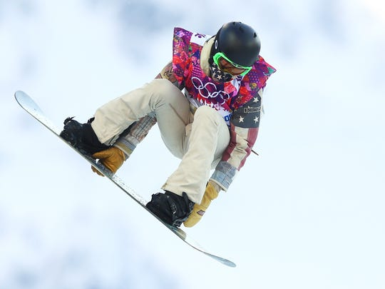 Shaun White of the United States competes in the Snowboard Men's Halfpipe Qualification Heats on day four of the Sochi 2014 Winter Olympics at Rosa Khutor Extreme Park on February 11, 2014 in Sochi, Russia.