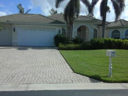 This home at 5629 Harbour Preserve Circle, Cape Coral,
